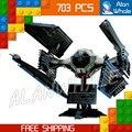 703 шт. Новый Звездные войны 05044 Окончательный Collector Series TIE Interceptor Модель Строительные Блоки Игрушки Совместимы с Lego