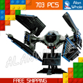 703pcs New Star Wars 05044 Ultimate Collector Series TIE Interceptor Model Building Blocks Toys Compatible with Lego