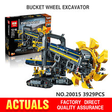 In Stock NEW LEPIN 20015 technic series 3929pcs Bucket wheel excavator Model Building blocks Bricks Compatible with legeod