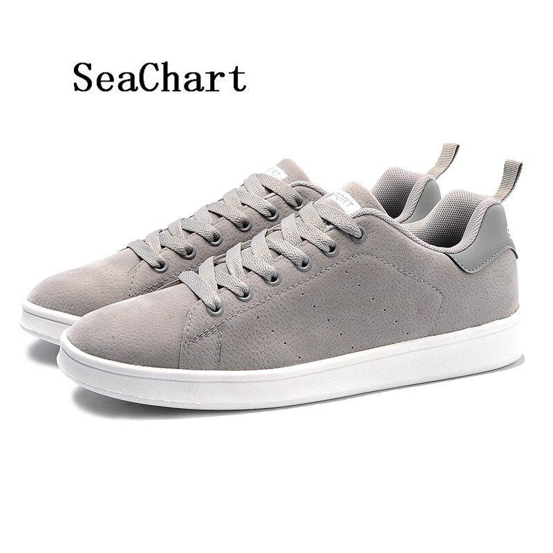 Prix pour SeaChart Hommes Planche À Roulettes de Chaussures Hombre Solide couleur Gommage Hommes Sneakers Livraison Gratuite Non-Slip de Patineuse plat chaussures chaussures