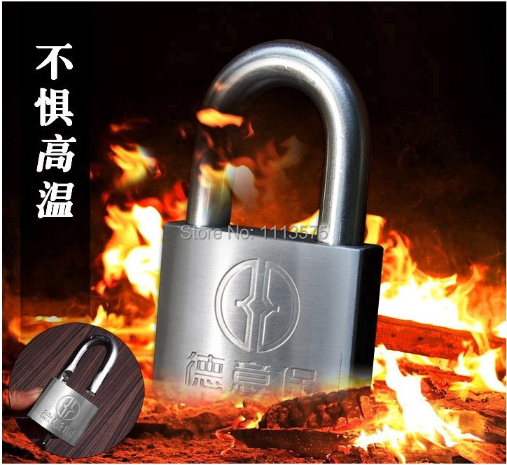 40mm Anti Theft Security System Door Motor Bike Padlock  rust prevention anti shear stainless steel waterproof  acid hzsecurity electromagnetic system em library anti theft system one aisle