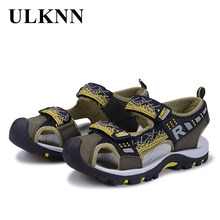 ULKNN сандалі дитячі черевики бренд закрити пальці ортопедичного спорту PU шкіра малюків хлопчики дівчата діти високої якості сандалі взуття