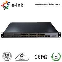 Неуправляемый коммутатор 24x10/100/1000 м порты Ethernet + 2x Gigabit TP/sfp Combo ports, 15.4 Вт, вся власть 400 Вт коммутатор PoE