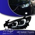 One-Stop Shopping Styling para Mazda6 Atenza Mazda 6 Faróis de LED Farol DRL Lens Duplo Feixe H7 HID Xenon Acessórios do carro