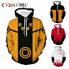 Coshome Naruto 3D Hoodies Anime Boruto Akatsuki Jacket Coat Uchiha Itach Cosplay Costumes Kakashi Men Sweatshirt