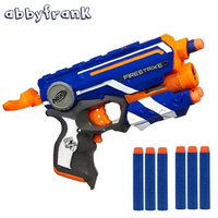 Hot Fire Strike Elite Safe Soft Bullet Toy Gun 3 Soft Bullets Manual Operated Nerf Gun