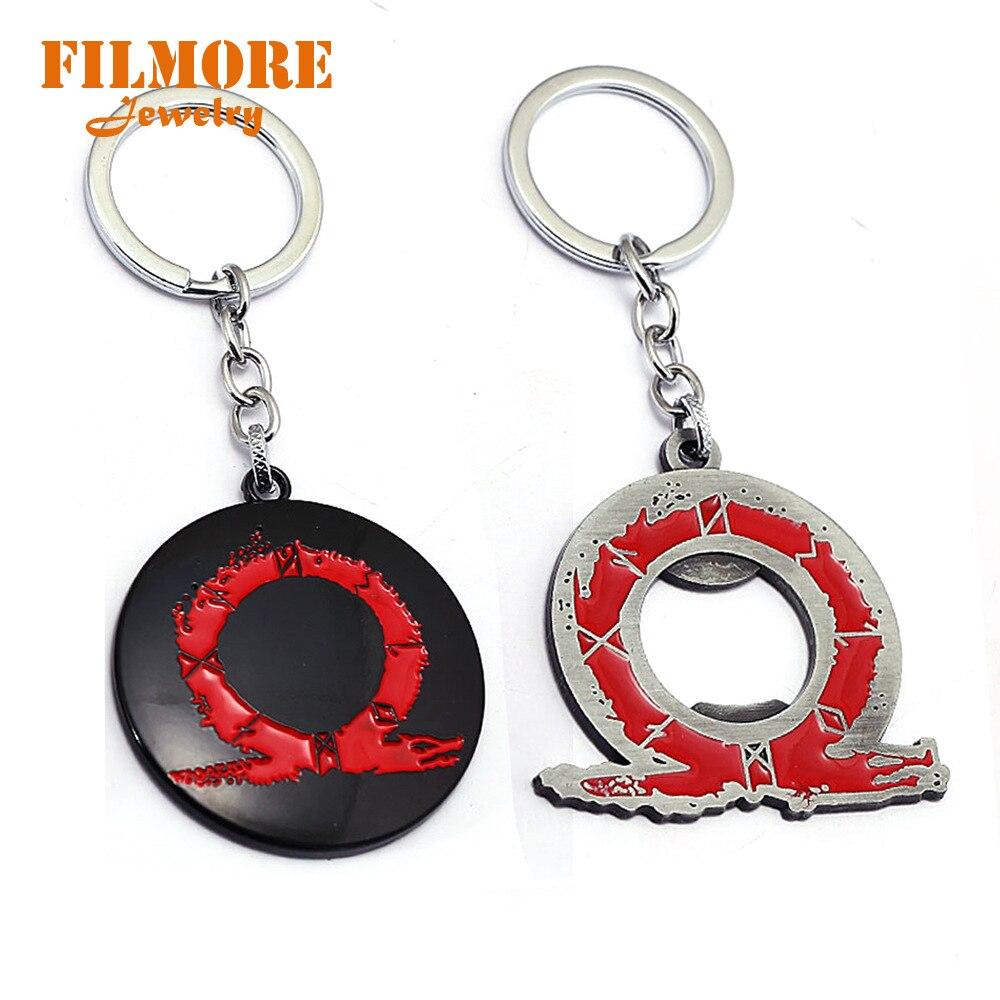 God of War 4 Keychain Bottle Opener Game Logo Kratos Pendant Cool Metal Keyrings Men Car Women Bag Key Chain Chaveiro Jewelry