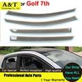 Viseiras Da Janela estilo do carro Para VW Golf ª 2013 2014 2015 Sol Chuva Escudo Adesivos Cobre Toldos Abrigos