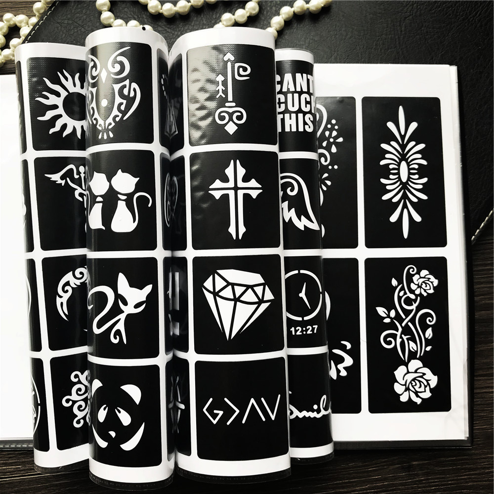цены 1 Book 312 Design Album Card Bit Book Tattoo Stencils Template For Tattoo Cones Glitter Body Art Painting Maps Makeup Tools