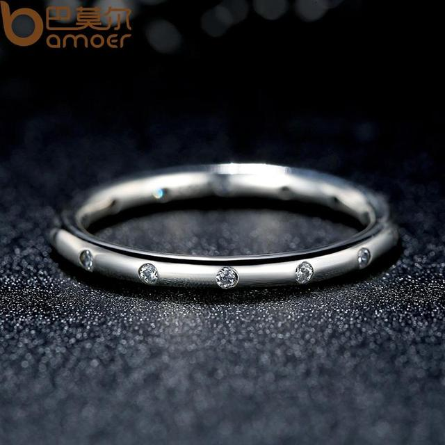 Sterling Silver Droplets Stackable Finger Classic Ring