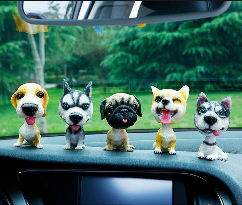 font b Car b font Ornament Lovely Simulation Dog Cute Shaking Head Resin Dog Puppy