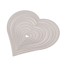 DIY Cutting Dies Love Heart Shapes Metal Stencil Scrapbooking Photo Album Card Paper Embossing Craft 10pcs ADC057