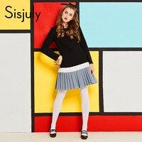 Sisjuly Vintage 60s Dresses Patchwork Knee Length A Line Black O Neck Elegant Autumn Designer Vintage