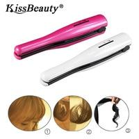 Kissbeauty USB Mini Cordless Hair Flat Iron Trave Hair Straightener Wireless Ceramic Flat Straightening Iron