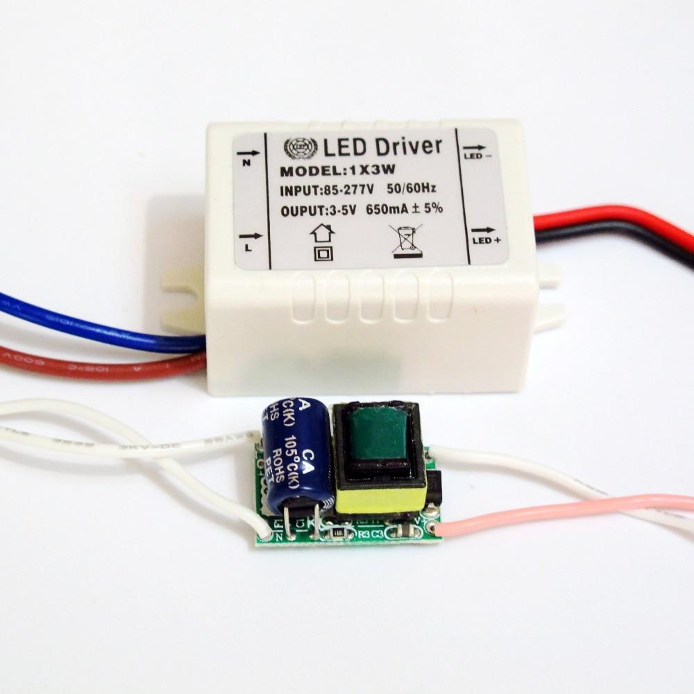 Hihg Quality Isolated 600mA 1x3W Led Driver 1x3W Power Supply DC 3V - 5V AC 110V 220V 277V For LED Lights
