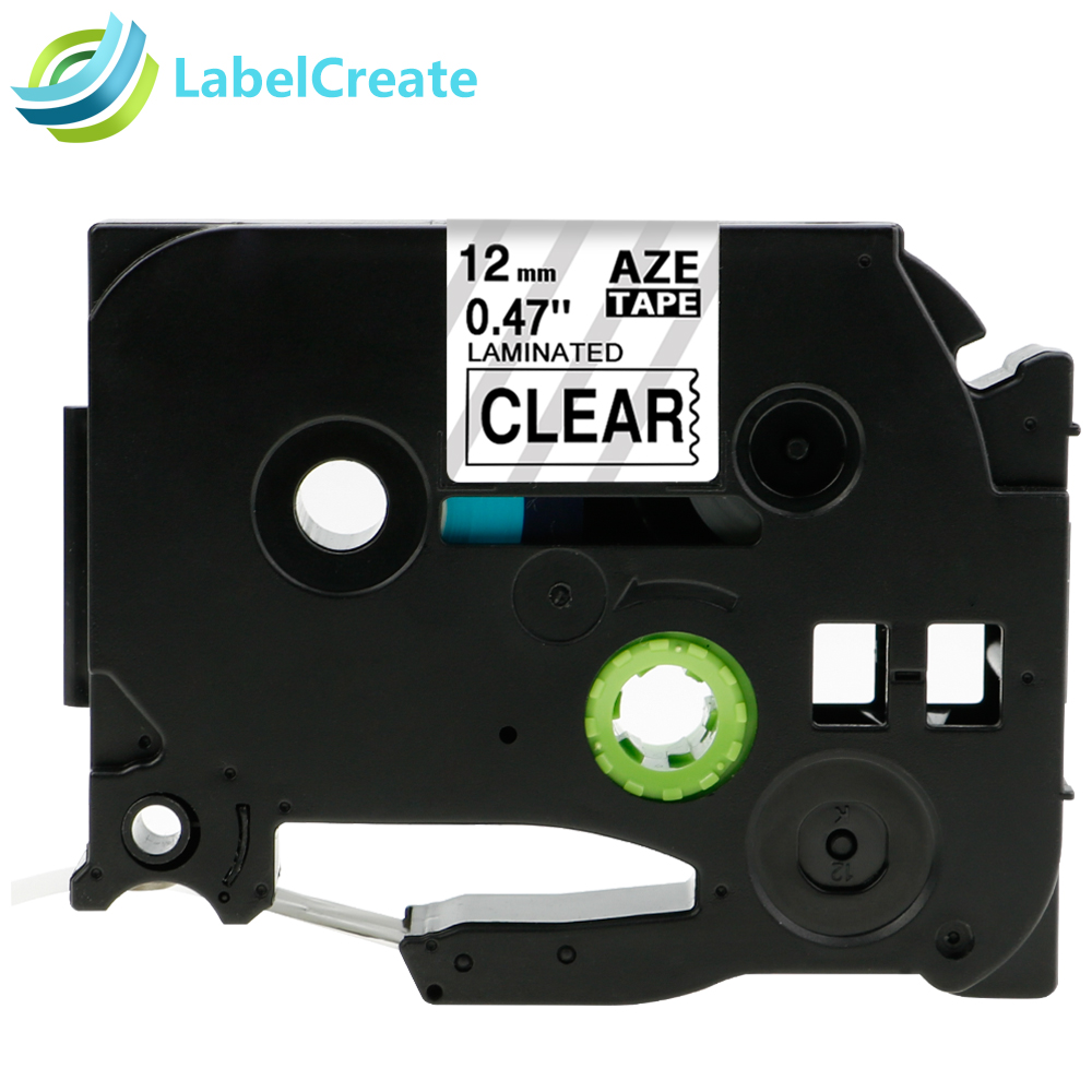 Compatible Brother P touch tze-131 Tze 131 Tze131 TZ-131 TZ 131 TZ131 12mm*8m Black on Clear Laminated Label Tape Cartridge brother tz 221 page 1