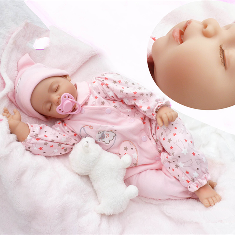 50cm New Face Simulation Lifelike Silicone Vinyl Reborn Baby Doll Christmas Birthday Gift Girl Kids Toys Juguetes Brinquedos