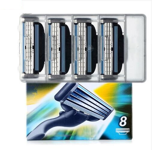 8pcs/lot High Quality Razor Blades,Compatible For Gillettee Mache 3 Machine Shaving Razor Blade For Men Face Care