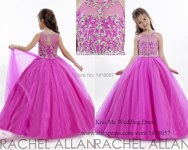 bd75819af Princess 2015 Purple Junior Bridesmaid Dresses Crystal Ball Gown Flower  Girl Dresses for Weddings Vestidos infantis