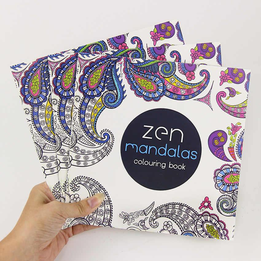 24 pagine bellissimo Mandala fiore libro da colorare pittura Graffiti libro bambini ragazze arte disegno alleviare lo Stress libro per il tempo libero