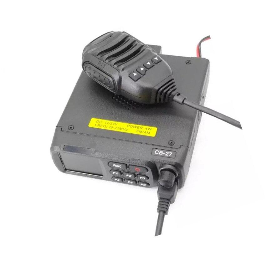 רשימת הקטגוריות QYT הנייד CB27 הרכב שני דרך רדיו משדר AM FM לרכב Mouted להקה אירופאי רדיו CB הנייד CB27 12V 24V 26.965-27.405MHz (4)