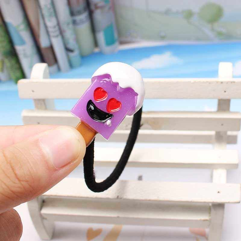 Q девушки резинки для волос Головные уборы Резина милый мороженое резинка для волос эластичная лента аксессуар для волос fille