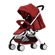 4.9Kg Lightweight Baby Stroller Foldable Portable Four-wheel Stroller Baby Pushchair Kinderwagen High Landscape Baby Strollers
