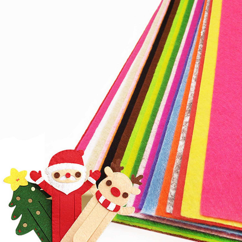 40PCS 20x30cm Assorted Color Felt Nonwoven Fabric Sheet For DIY School Craft Projects Decorations Bulletin Board Backdrops