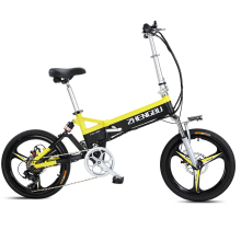 20inch Fold electric bike 48V li-ion battery lightweight frame mini ebike smart pas range 90km maximum speed 30km/h 7