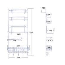 Refrigerator Rack Side Shelf Sidewall Holder Multifunctional Kitchen Supplies Organizer Household Multi-layer Fridge Storage