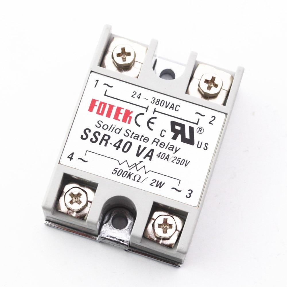 1pcs Solid State Relay Module SSR-40VA 40A Extermal control potentiometer  Input 24-380VAC