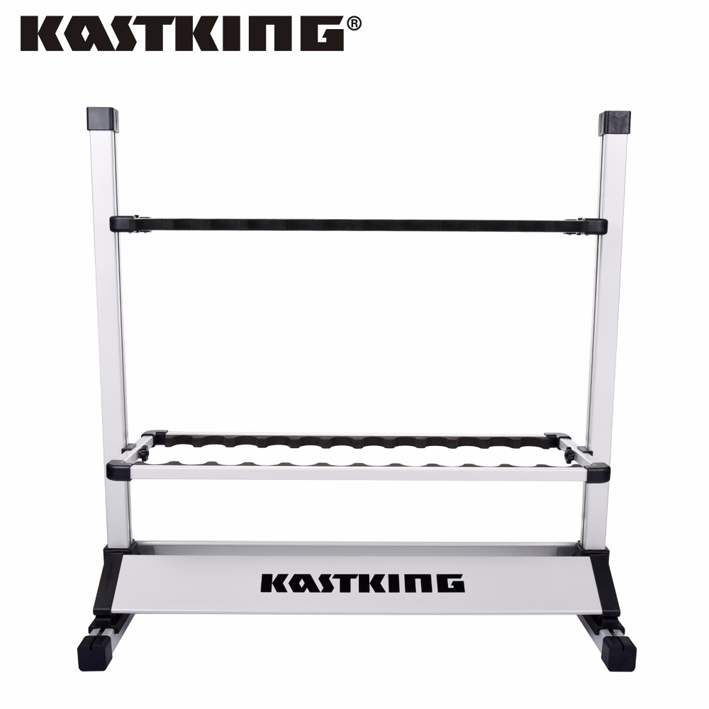 KastKing Aluminum Fishing Rods Holder Rack For Any Fishing Reel Combo Size 72.39*73.66*33.02cm Capacity 24pcs Rod