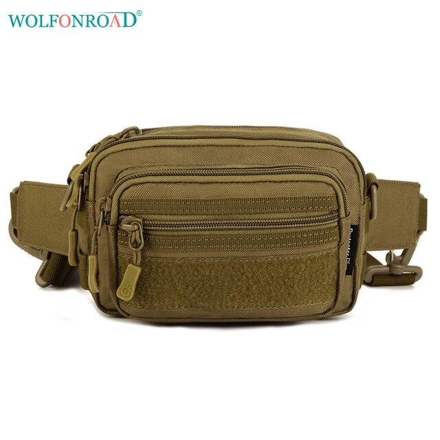 c732a484d WOLFONROAD Hombres Tactical Correr Bolsa de Cintura Bolsas de Deporte Senderismo  Militar Fanny BOLSO de LA
