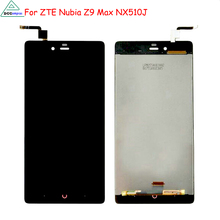 For ZTE Nubia Z9 Max NX510J LCD Display Touch Screen Original Digitizer Assembly Replacement For ZTE nubia z9 max Phone Parts  for zte grand x max z987 lcd replacement lcd display touch screen digitizer frame complete assembly parts 987 plus tools