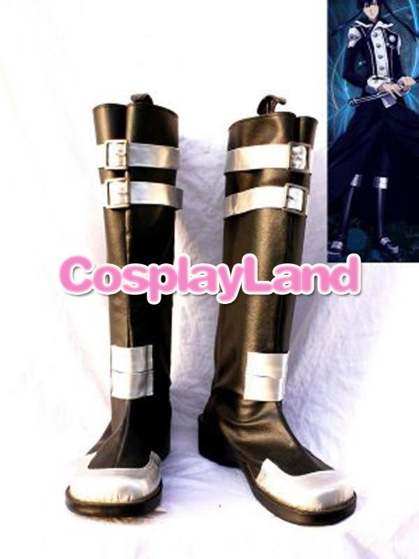 D Gray-man Yu Kanda Cosplay Laarzen Anime Party Cosplay Tonen Laarzen Custom Made Voor Volwassen Mannen Schoenen