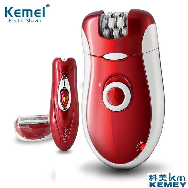 2017 Kemei KM-3068 Новые 3 в 1 женщины бреют шерсть устройства нож электробритвы шерсть Эпилятор бритья Женские бритвы женский Уход за телом