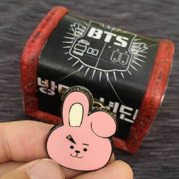 Брошки к-поп в ассортименте BTS 21 в подарочной коробке 1