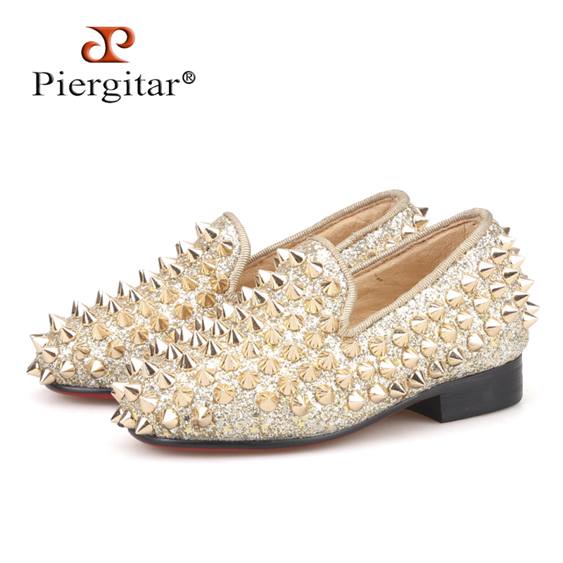 Piergitar/2018 новый стиль родительский обувь красный хлопок Дети Мокасины Удобная стелька вечерние и свадебные детская повседневная обувь