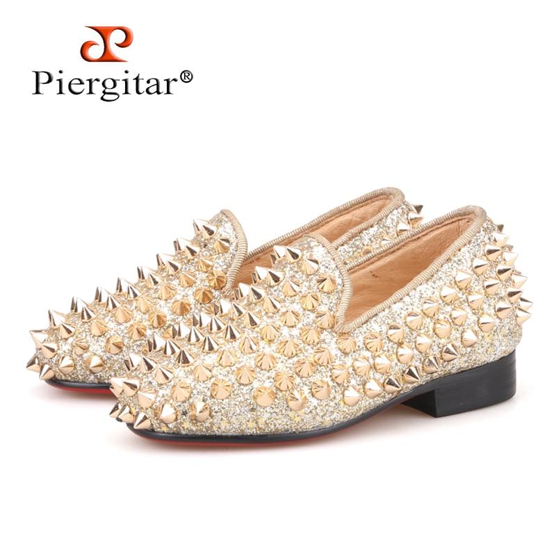Piergitar/2018 новый стиль родительский обувь красный хлопок Дети Мокасины удобно стелька вечерние и свадебные детская повседневная обувь