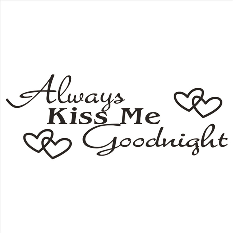 Hot Always Kiss Me Goodnight Vinyl Wall Art Sticker Home Decor