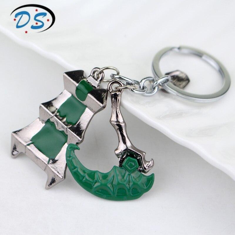 Hot Game LoL Thresh Weapon League of legendes Keychains Trendy accessories women men Key chain chaveiro