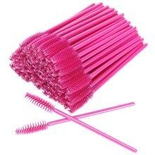 500pcs Disposable Eyelash Brush Mascara Wands Pink Eye Lashes Extension Makeup brushes Individual Applicator