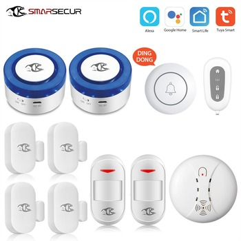 Wireless smart WIFI alarm siren kits  security system Auto-dial with Android IOS app control yobang security wireless home security wifi android ios app alarm system with wireless indoor siren wireless smoke detector
