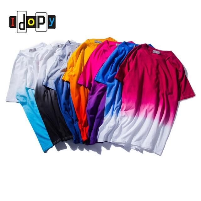 812684a4a03 2018 New Unisex Harajuku Urban Clothing T-shirts Tie Dye Colored Gradual  Tshirt Funny T Shirt Tees For Men and Women