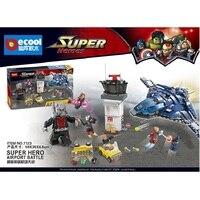 Decool 7123 511pcs Captain America 3 Civil War Giant Ant Man airport building blocks Toys Legoed marvel 76051 lepin ww2