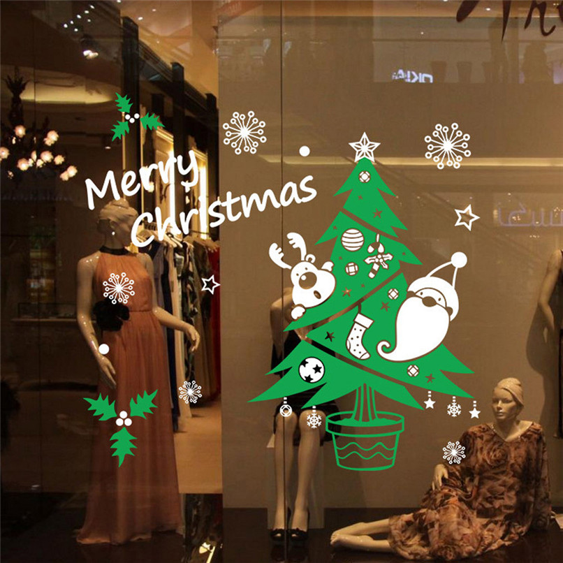 New Arrival Vinyl Removable 3D Wall Sticker Christmas Tree ...