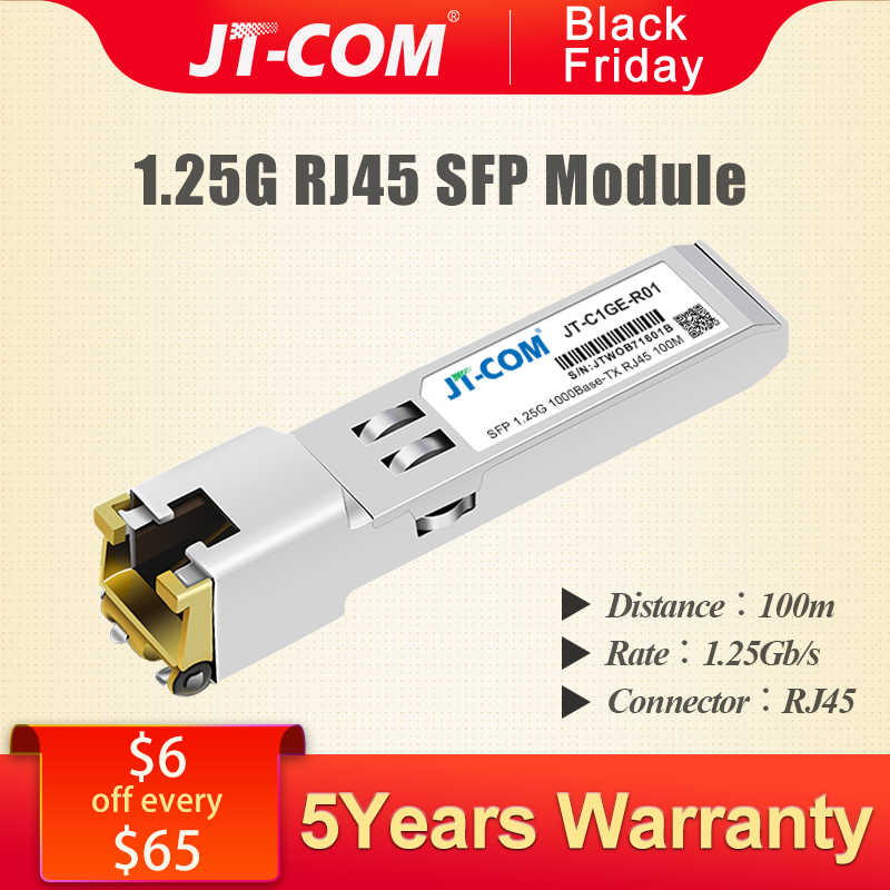 Detail Feedback Questions about Gigabit RJ45 Copper SFP Transceiver