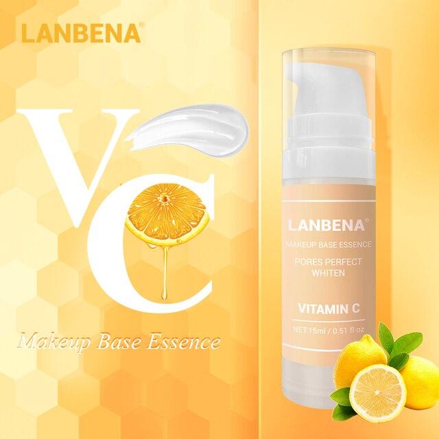 LANBENA Vitamin C Makeup Base Essence, Shrink Pores and Whitening Skin 1