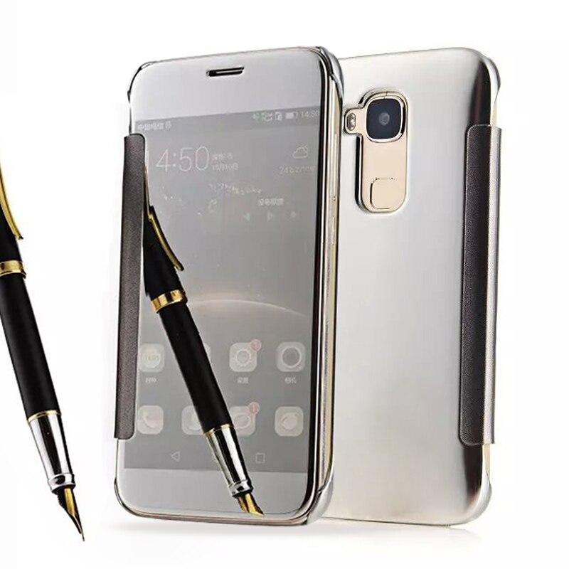 GX8 Luxury Mirror Flip Case For Huawei GX8 G7 Plus G8 Hard Clear View Cover For Huawei G8 Fundas 5.5 inch Phone Cases ShellGX8 Luxury Mirror Flip Case For Huawei GX8 G7 Plus G8 Hard Clear View Cover For Huawei G8 Fundas 5.5 inch Phone Cases Shell