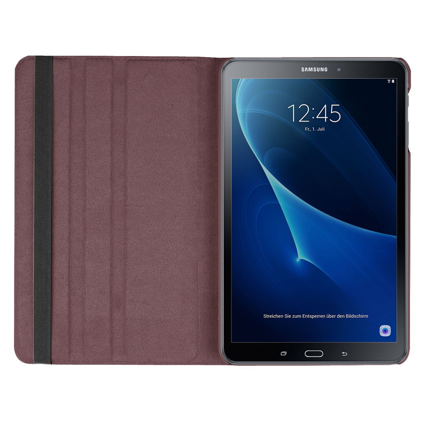 360 degree rotating folio pu leather case for samsung galaxy tab a6 10 1 sm t585 t580. Black Bedroom Furniture Sets. Home Design Ideas